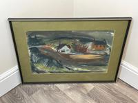 Scottish Mixed Media Painting Cottages in Ayrshire Signed Robert Sinclair Thomson 1915-1983 ARSA, RSW (4 of 27)