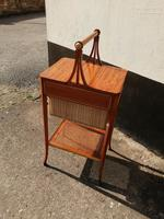 Beautiful Sheraton Revival Satinwood Sewing Table (6 of 11)
