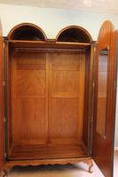 Burr Walnut Dome Top Double Hanging Wardrobe (8 of 9)