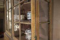 An Elegant 18th Century Dutch Vitrine Original Painted Glazed Cabinet - Yellow (5 of 15)