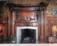 Grand Antique 19th Century Carved Walnut Fire Surround Provenance Castle Levan Manor (6 of 6)