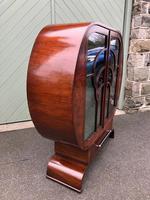 Art Deco Walnut Display Cabinet (3 of 13)
