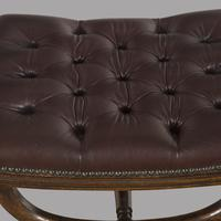 Regency Leather Footstool (3 of 3)