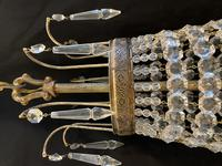 French Antique Empire Chandelier with 3 Internal Lights (4 of 13)
