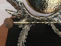 Foliage Design Brass Table Gong (3 of 5)