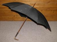 Antique hallmarked 1890 silver brigg black canopy umbrella 'T.S.E.' 'Edinburgh' (5 of 15)