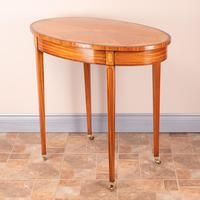 Inlaid Oval Satinwood Occasional Table (9 of 15)