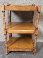 Arthur Brett Burr Walnut Whatnot / Shelves