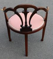 1920's Mahogany Side Chair in Pink (3 of 3)