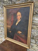 Large Antique Oil on Canvas Portrait of a Gentleman (16 of 19)