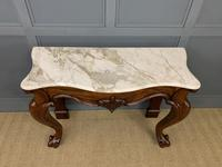 Victorian Mahogany Marble Topped Console Table (7 of 11)