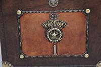 Pair of Early 20th Century ex Army Leather Bound ex Army Trunks (10 of 10)