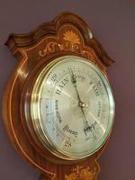 Superb Antique Rosewood Sheraton Inlaid Barometer (5 of 7)