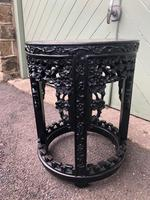 Antique Oriental Chinese Marble Top Stand (4 of 5)