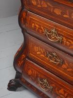 Antique Dutch Marquetry Bombe Bureau (9 of 15)