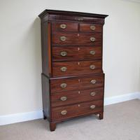 Mahogany Chest on Chest c.1810 (4 of 4)