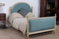 Very Nice French Newly Upholstered Double Bed