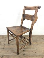 Set of Four Victorian Elm Chapel Chairs (4 of 7)