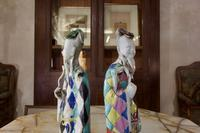 Charming Near Pair of 18th Century Chinese Export Immortals - Harlequin (5 of 11)