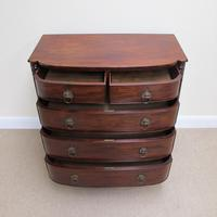 Mahogany Regency Bow Front Chest of Drawers (3 of 7)