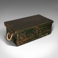 Small Antique Mariner's Trunk, English, Pine, Chest, Late Victorian c.1900 (7 of 12)