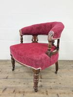 Pair of Victorian Mahogany Upholstered Tub Chairs (7 of 15)