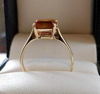 Vintage 9ct Gold Citrine Solitaire Ring Size Q (8 of 8)