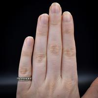 Art Deco Pearl Full Eternity Sterling Silver Band Ring (8 of 10)
