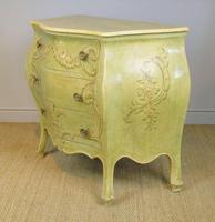 Vintage Italian Painted Bombe Commodes Harrods (9 of 10)