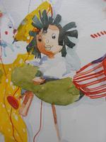 Watercolour The Puppets listed Irish artist Judith Caulfield Walsh (5 of 10)