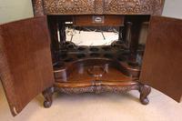 Antique Impressive Burr Oak Cocktail Drinks Cabinet (7 of 16)