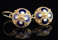 Vintage Russian enamel earrings, silver gilt (8 of 8)