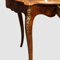 Victorian Inlaid Walnut Centre Table with Drawer (6 of 9)