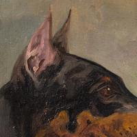 Wilhelm Westerop, Portrait of a Doberman, Oil Painting (8 of 10)