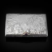Antique Imperial Russian Solid Silver Samorodok Snuff Box Case - Rudolf Veyde c.1900 рудольф Вейде (2 of 15)