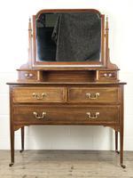 Antique Edwardian Inlaid Mahogany Dressing Table