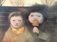 Original oil on board 'Park Street' by KB. Initialled and dated 11.56 (6 of 6)