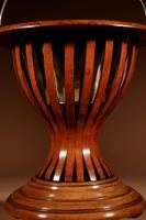 Dutch Hourglass Shaped Original Inlayed Mahogany Theestoof 'Tea Stove' Jardinière (3 of 7)