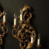 Florentine 4 Light Giltwood Antique Wall Lights (3 of 6)