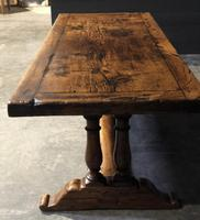 Wonderful French Chestnut Farmhouse Refectory Dining Table (29 of 37)