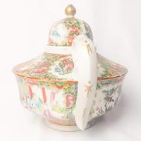 19th Century Cantonese Femille Rose Large Tea Pot (6 of 12)