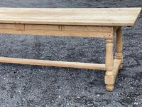Large Bleached Oak Farmhouse Dining Table with Extensions & Storage (11 of 35)