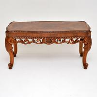 Antique Burr Walnut Coffee Table (2 of 9)