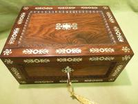 Inlaid Rosewood Table Box / Jewellery Box c.1840 (5 of 12)