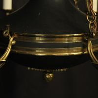 French Gilded Brass Empire 6 Light Antique Chandelier (2 of 10)