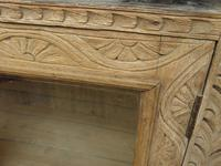 Antique Limed Oak Display Cabinet, Victorian rustic bohemian wall cabinet (9 of 16)