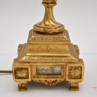 Pair of Antique French Porcelain & Gilt Metal Table Lamps (4 of 12)