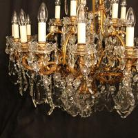 French 19th Century Bronze 24 Light Antique Chandelier (2 of 11)