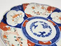 Chinese Asian Imari Plate 19th Century 1850-1899 Imari Rust Red Cobalt Blue Porcelain (3 of 6)