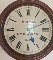 Eight Day Rare High Quality Lancs / Yorks Railway Clock (6 of 12)